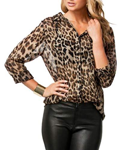 H&E Damen Bluse Gr. M, Leopard