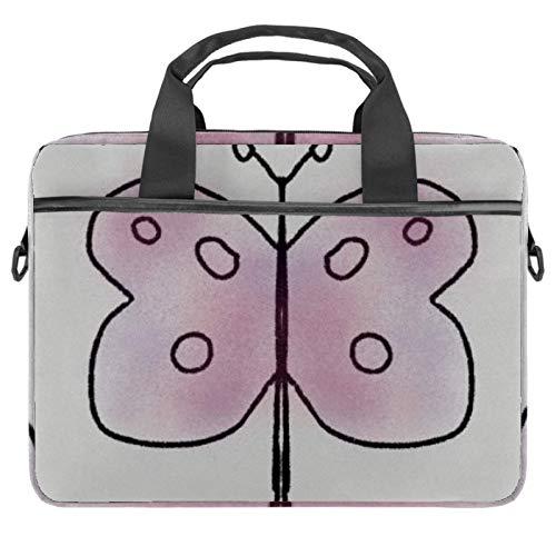 Bolsa de ordenador portátil mariposa ala roja manga del cuaderno con mango 13.5-14.5 pulgadas que lleva el bolso del hombro maletín