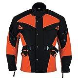 German Wear Chaqueta de moto textil combinada, 54/XL, color naranja