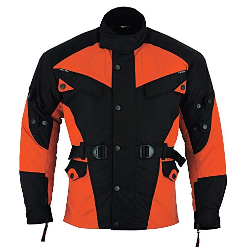 German Wear Textil Motorradjacke Kombigeeignet, 48/S, Orange