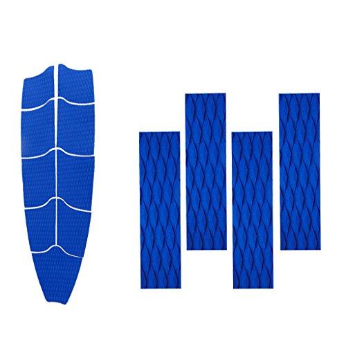 SM SunniMix Almohadilla de Tracción de Cubierta Completa de Tabla de Surf Azul de 9 Piezas con Empuñaduras de Almohadillas Traseras de 4 Piezas