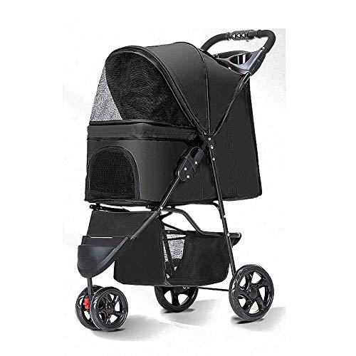 JISHIYU - Q Bunny Kinderwagen für Hunde und Katzen, faltbar, einfaches Spazierengehen, Reisewagen für Haustiere,...