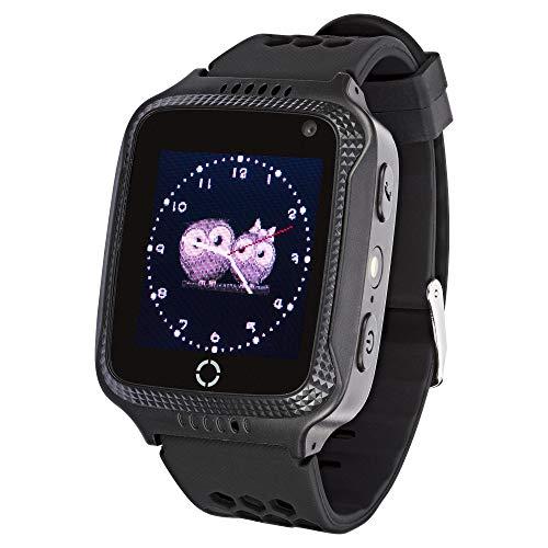 JBC Kinder GPS SOS Uhr Abenteurer ohne Abhörfunktion (Schwarz)