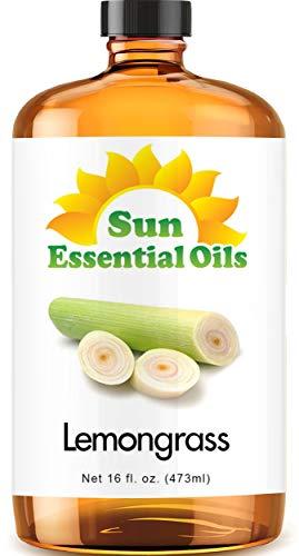 Lemongrass Essential Oil (Huge 16oz Bottle) Bulk Lemongrass Oil - 16 Ounce