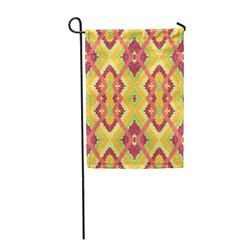 12,5 'x 18' Gartenflagge Bunte Ikat Zickzack Orange Muster Abstrakte amerikanische aztekische Home Outdoor Dekor doppelseitige wasserdichte Yard Flags Banner für Party