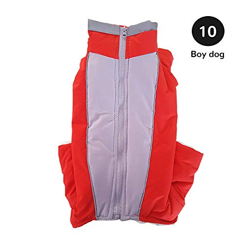 Roofeel Winter Overalls Voor Honden Warm Waterdicht Huisdier Jumpsuit Broek Man Vrouwelijke Hond Reflecterende Kleine Hond Puppy Donsjack