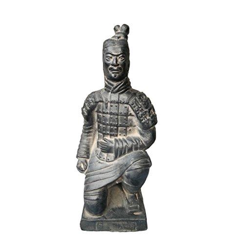 Escultura de guerrero de terracota, antigua China, Dinastía Qin, escultura de decoración, para la mesa, de regalo, 8,8cm, Kneeling Archer