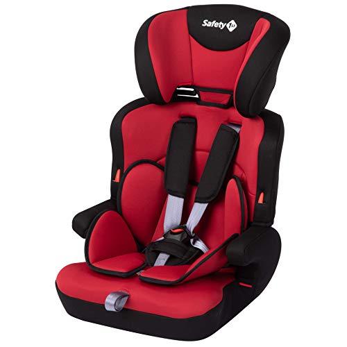 Safety 1st 8512765001 Ever Safe Plus Kindersitz, mitwachsender Gruppe 1/2/3 Autositz mit 5-Punkt-Gurt (9-36 kg), nutzbar ab circa 9 Monate bis circa 12 Jahre, rot