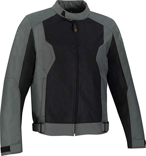 Chaqueta moto Bering RIKO Gris/Negro, Gris/Negro, XL