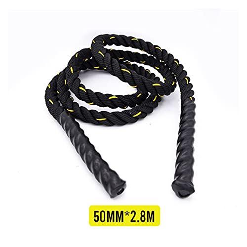 LCONG - Cuerda de saltar para entrenamiento de fuerza, 25-50 mm, 2,8 m, bóxer, muscular, fitness, equipo para el hogar (color verde militar)