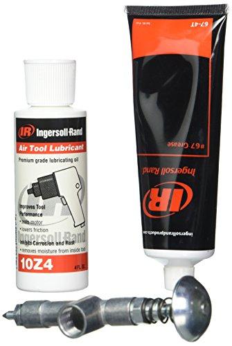 Kit de mantenimiento para herramientas de impacto 67-LBK1 de Ingersoll Rand, grasa 67, aceite 10 y pistola de engrase, 1 juego