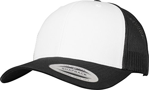 Flexfit Retro Trucker Colored Front Kappe blk/Wht One Size