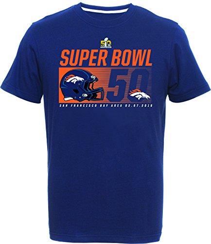 Majestic Athletic Football Superbowl 50 Denver Broncos Winner T Shirt Tee Size Medium