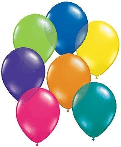 bajo precio Qualatex 11  Round Jewel Balloons, Fantasy Assortment - - - Pack of 100 by Mayflower Products  tiempo libre