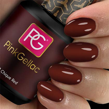 Pink Gellac Shellac Gel Nagellack 15 ml für UV LED Lampe | 112 Chique Red Rot Dunkelrot | Gel Nail...