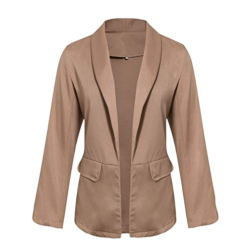 WHBDFY Merk Casual Herfst Winter Blazer Vrouwen Effen Plus Size Hoge Mode Retro Pocket Wit Femme Jassen XL Camel
