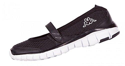 Kappa Kanya Schuhe Ballerinas Flexsohle Fitness Sneaker 260173 Schwarz 1110, Größe:39;Farbe:schwarz