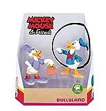 Bullyland 15084 – Juego de Figuras de Juguete, Walt Disney Mickey Mouse, Donald y Daisy, Figuras pintadas a Mano, sin PVC, Regalo Ideal para niños y niñas para Jugar de fantasía