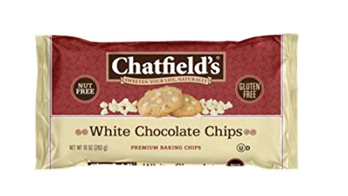 Chatfield's Gluten-Free White Chocolate Baking Chips, 10oz Bags, Case of 12 (3746)