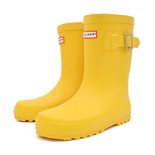 [グリップグラップ] キッズ ベビー レインブーツ 子供 長靴 rio40900 (18.0cm, イエロー)
