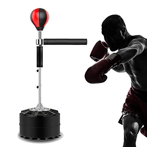HNWTKJ Saco De Boxeo De Pie Punching Ball con Base Estable, Pelota De Boxeo De Boxeo for Adultos, Altura Ajustable, Se Adapta Fácilmente a Las Necesidades De Todos (Size : 8 Suction Cup Base)
