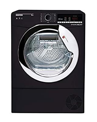 Hoover DXOC8TCEB Freestanding Condenser Tumble Dryer with Aquavision, WiFi Connected, 8Kg, Black