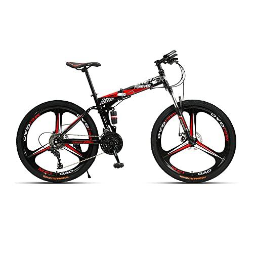 Bicicleta, Bicicleta de Montaña de Doble Choque, Bicicleta Todoterreno de 26 Pulgadas Y 27 Velocidades, Para Adultos Y Adolescentes, Marco de Acero Plegable con Alto Contenido de Carbono /