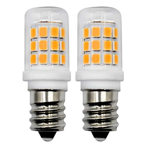 E14 LED Warmweiss Glühbirne 2.5W 230V AC Mini Kühlschranklampe/Dunstabzugshaube Lampe/Mikrowellenofen Licht/Salzsteinlampe (Ersetzt 15W 20W 25W), 2 Stück [MEHRWEG]
