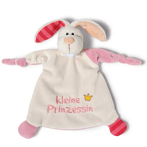 NICI Schmusetuch Hase 'Kleine Prinzessin´ 25x25 cm – Hase Schnuffeltuch ab 0+ Monaten – Hase Kuscheltuch für Babys & Kleinkinder – Baby Kuscheltier / Schnuffeltuch – Schmusetuch für Mädchen – 40042