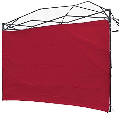 NINAT - Panel de privacidad para cenador de carpas de carpas de 3 m, impermeable, para cenadores de pierna recta, 1 paquete de solo pared lateral (marco de toldo no incluido), Pared de panel rojo