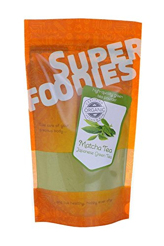 Matcha Tea Powder - Authentic Japanese Matcha Tea - Suitable for Vegan - Equivalent to 10 Cups of Ordinary Green Tea - Orgainic Certified by Superfoodies (250g)