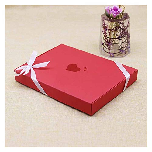 Encantador 5 unids DIY DIY Caja de Embalaje de la joyería del corazón Rojo/Kraft/Blanco Color Big Gift Package Caja de Paquete de Boda Favores de Caramelo Caja de decoración Popular