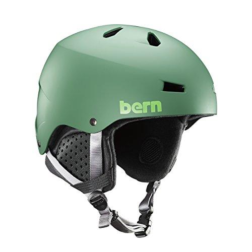 Bern Herren Macon Helm, Matte Leaf Green, L