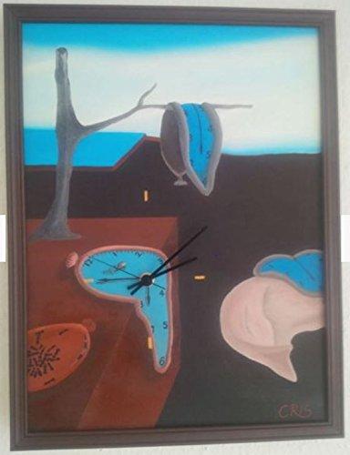 Wandbild Uhr Salvador Dali schmelzende Uhr zerfließende Zeit