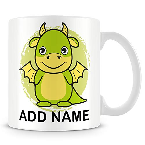 Dragon Mug - Personalised Cup with Name - Gift for Kids