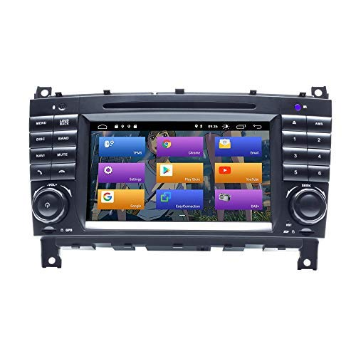 BOOYES für Mercedes Benz CLK Klasse W209 CLK200 C-Klasse W203 C180 CLC Klasse Android 10.0 Autoradio Stereo-GPS-System 7