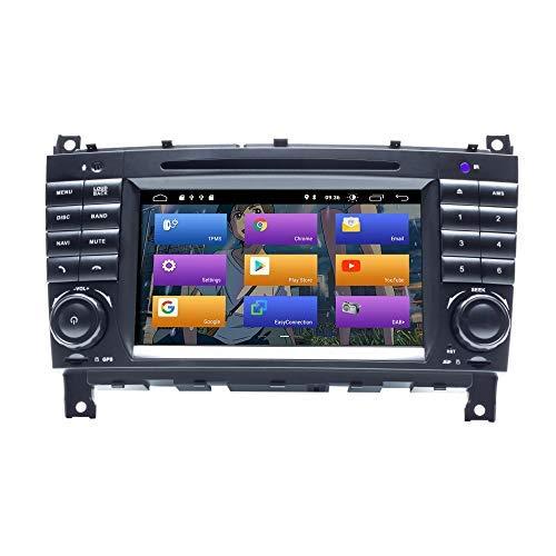 "BOOYES para Mercedes Benz CLK Class W209 CLK200 C-Class W203 C180 CLC Class Android 10.0 Radio para automóvil Sistema estéreo de GPS 7\""Reproductor Multimedia para automóvil Soporte Auto Play WiFi Dab"