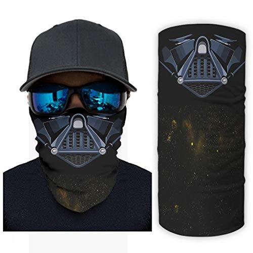 Vader Face Star Wars - Bufanda mágica para el cuello, para hombres y mujeres, ropa de mano para pesca al aire libre, pasamontañas, reutilizable, diadema, decoraciones