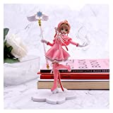 tggh Anime dolls Anime Lovely Pink Card Captor SAKURA PVC figuras de acción juguetes niñas PVC figura modelo (color: 1)