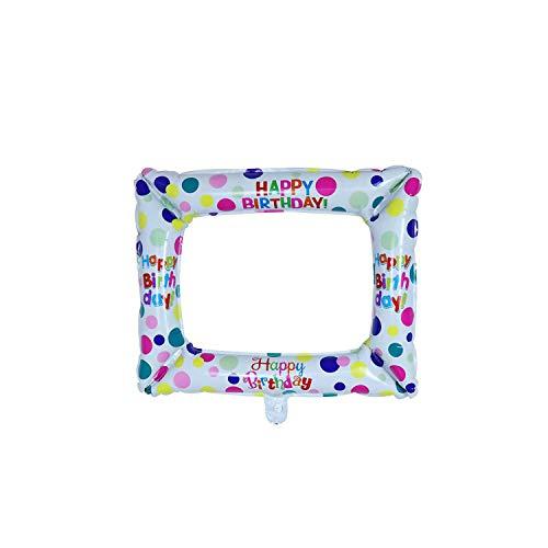 Bienvenido a casa Banners y Globos |50pcs Cumpleaños Photo Booth Foil Balloons Happy Birthday Photo Frame Atrezzo Decoraciones para Fiestas de cumpleaños Niños Baby Shower-Mint Green-50pcs