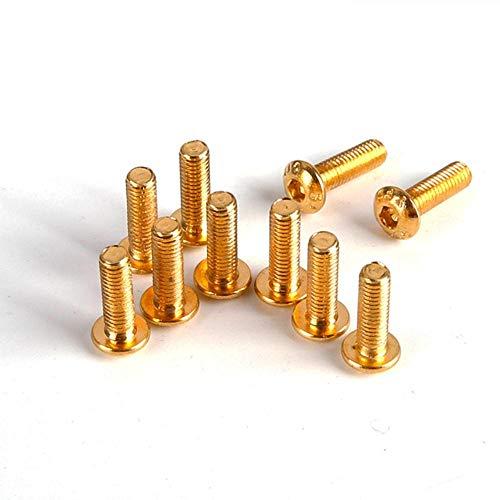10Pcs iso7380 Aleación de acero Chapado en titanio Oro Hexa