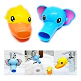 RafaLife Bath Toys - Faucet Extender, Animal Spout Sink Handle Extender for Toddlers Kids, Baby Safe and Fun Hand-Washing Solution, Promotes Hand Washing in Children (2 Pack).