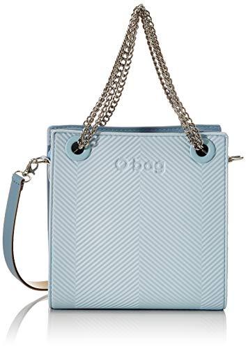 Bianco O bag Borsa Glam Pochette da Giorno Donna 27x8x19 cm W x H x L Latte