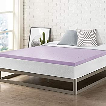Best Price Mattress 2 Inch Ventilated Memory Foam Mattress Topper Soothing Lavender Infusion CertiPUR-US Certified Twin