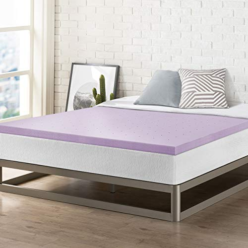 Best Price Mattress 2 Inch Memory Foam Bed Topper with with Lavender Cooling Mattress Pad, King Size,