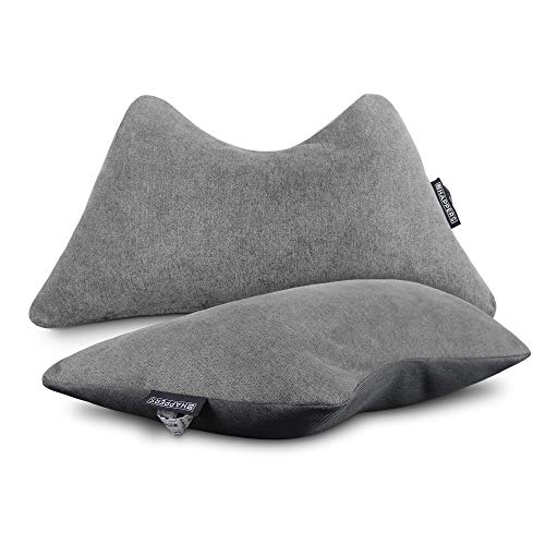 HAPPERS Pack 2 Cojines The Cushion Revolution Grises para el Descanso Lumbar y Cervical.