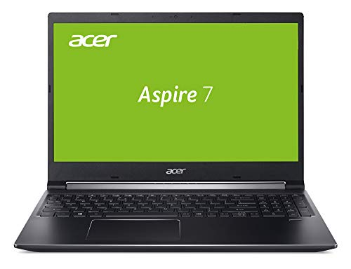 Acer Aspire 7 (A715-74G-57L9) 39,6 cm (15,6 Zoll Full-HD IPS matt) Multimedia/Gaming Laptop (Intel Core i5-9300H, 8GB RAM, 32GB Intel Optane + 512GB SDD, GeForce GTX 1650, Win 10 Home) schwarz