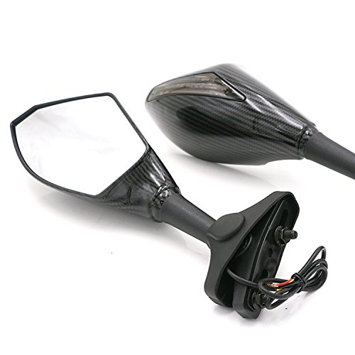 YP YuanPei Espejos de Motocicleta Integrados, Espejos retrovisores Laterales, retrovisores, LED para Honda CBR 600 F4i 929 954 RR F1 F2 Hurricane