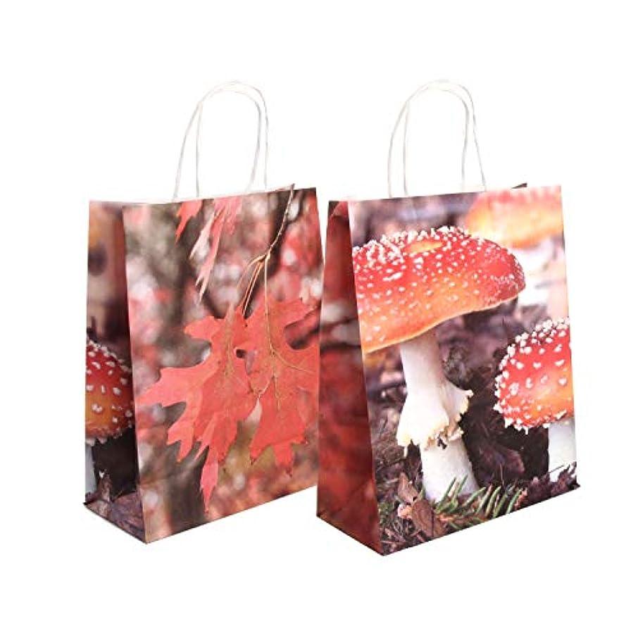 Esschert Design TP288 Toadstool/Leaf Bag, Paper, Small, Red/Brown