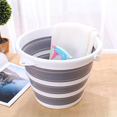 Cubo de plástico plegable, cubo de fregona portátil de cubo de agua de pesca de 10L (2.64 galones) para camping, lavado de autos, cocina o jardín